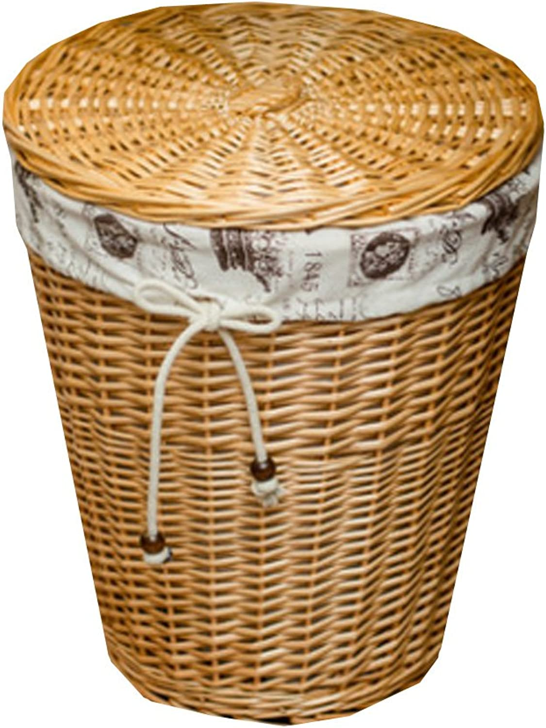 Storage Bucket,Wooden Laundry Clothes Toys Basket Storage Basket Folding Storage Box J