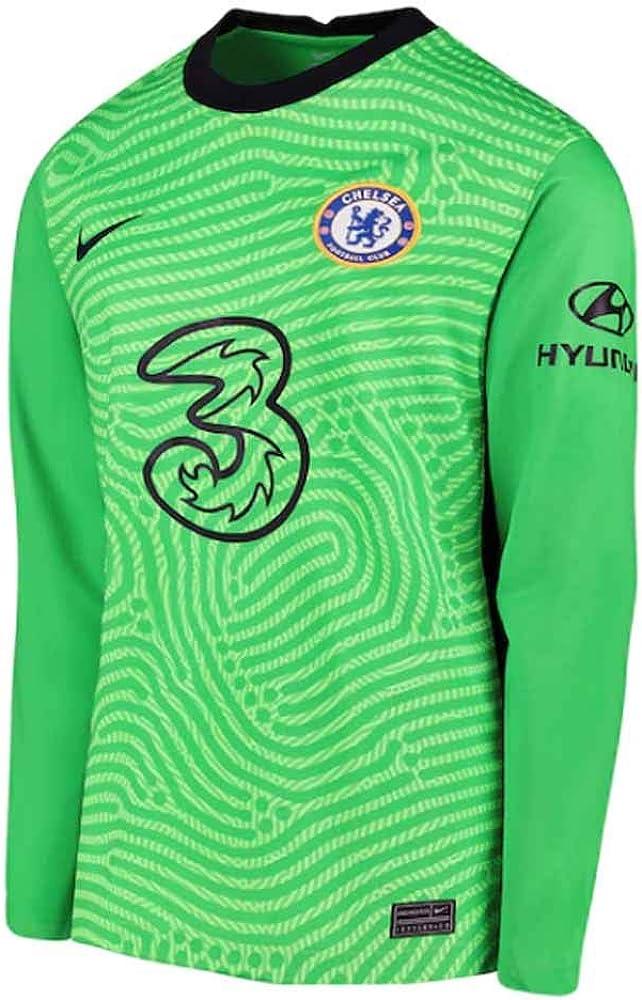 Nike 2020-2021 Chelsea Home - Maglietta da calcio da portiere (verde) per bambini