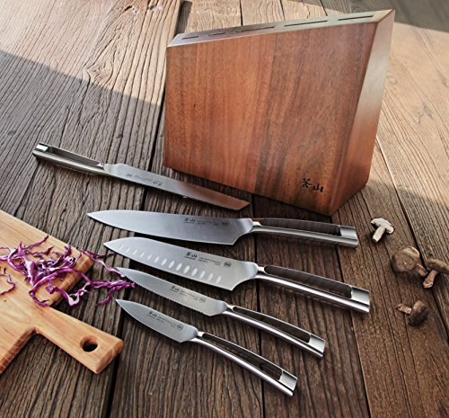 Cangshan N1 Series 59205 6-Piece German Steel Forged Knife Block Set, Oprah's Favorite Things 2017