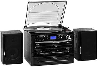 auna 388-DAB+ Stereoanlage – 20 W max. 2 x Lautsprecher, Bluetooth, FM, DAB+..