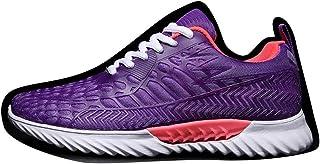 Williess Zapatillas de Deporte de Malla Transpirable Zapatos Blancos pequeños Pares Ocasionales Que Ejecutan los Zapatos de Las Mujeres Blancas (Color : Púrpura, Size : 41)