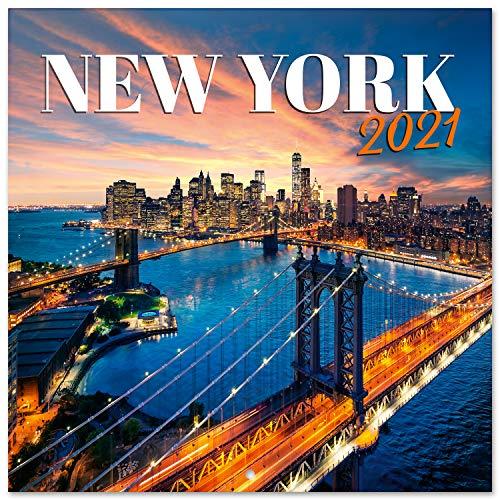 Grupo Erik CP21004 Calendario 2021 da Muro New York, calendario new york 2021, 16 mesi, 30 x 30 cm