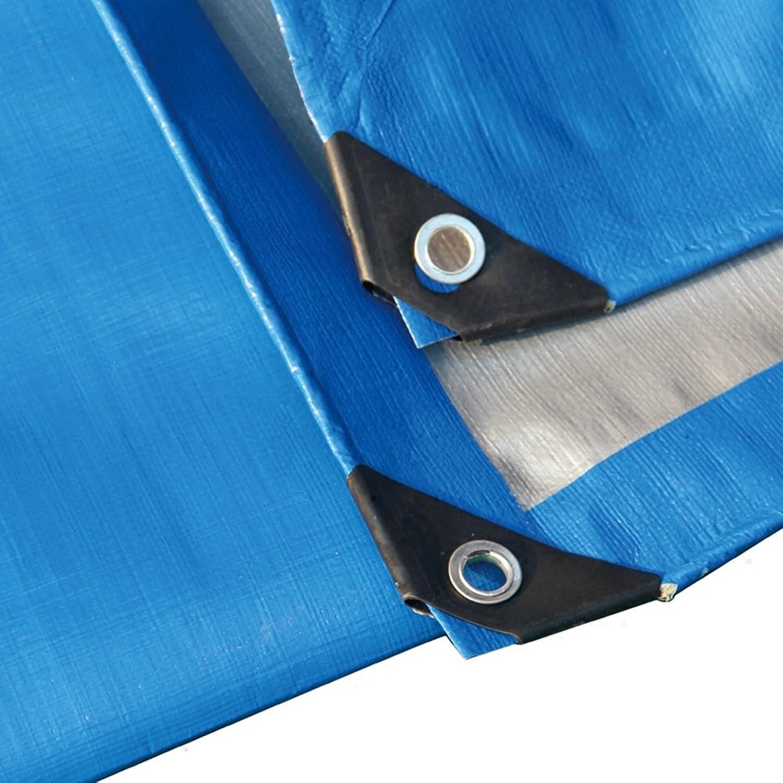 Regenschutz Wasserdicht Tarpaulin regendichter Sonnenschutz Sonnenschutz Sonnenschutz LKW Schuppen Tuch Gartenarbeit Schatten Hohe Temperatur Anti-Aging, Blau  Silber Streifen (Farbe   A, größe   6 x 10m) B07G7FCPZ1  Kostengünstig 5fd5ae