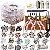 1171 piezas de joyería para hacer manualidades, crea una pulsera única para tu amiga, el mejor regalo para niñas, mujeres.