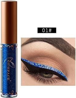 Beauty Metallic Shiny Smoky Eyeshadow, Waterproof Glitter Liquid Eyeliner (A)