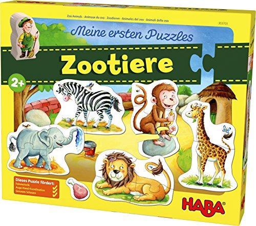 303703 Mis Primeros Puzzles – Animales del Zoo puzle infantil, Multicolor (303703)