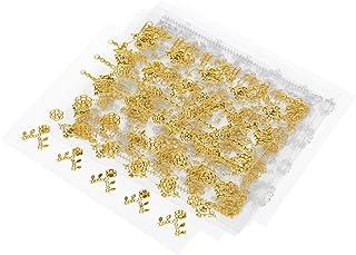 Decdeal 3Dネイルステッカー 12シート マルチスタイル ネイルアートの飾り 金シルバージッパー ゲルーポーランドのヒント DIY 自己接着性 レトロラップデカール