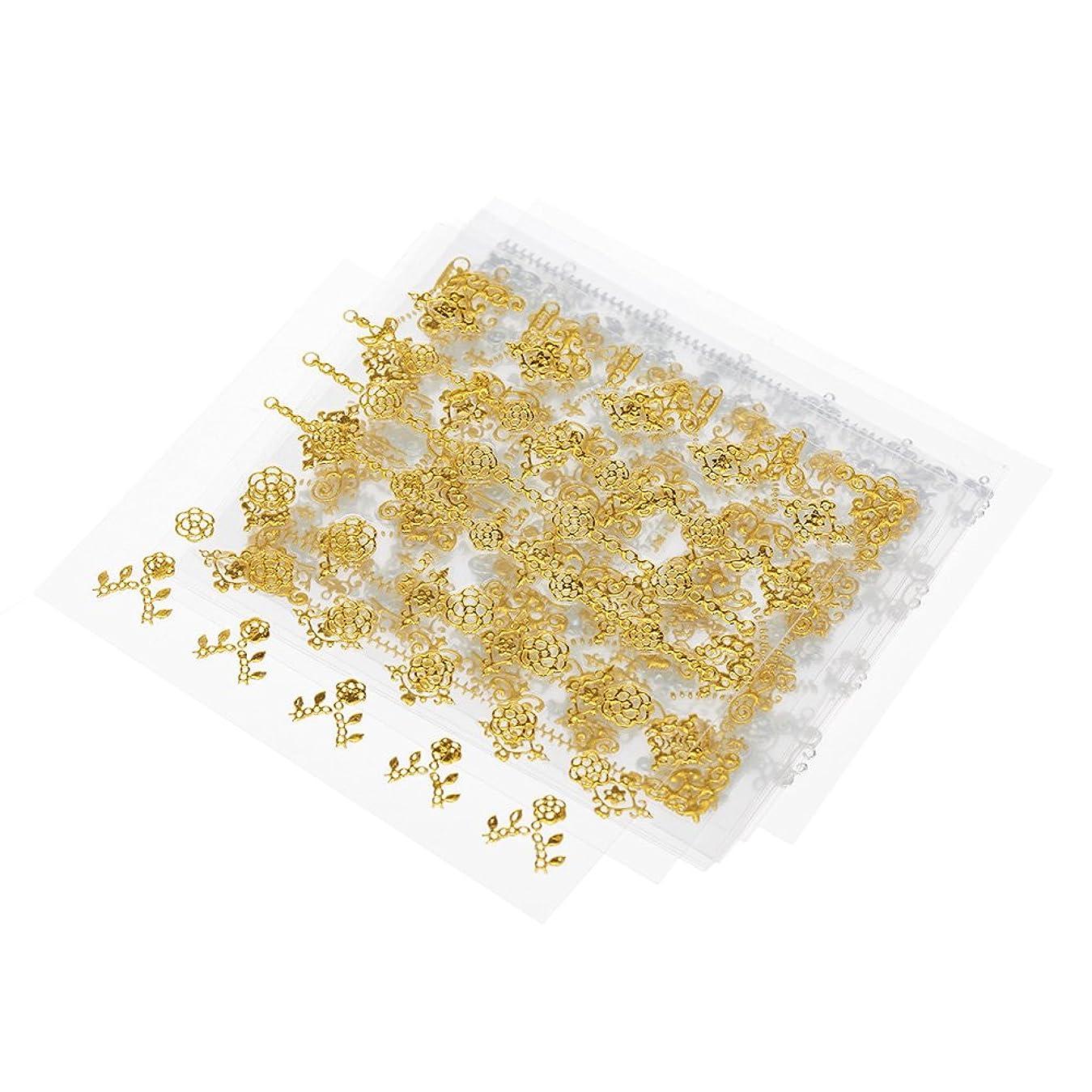アンペアスリチンモイマイルストーンDecdeal 3Dネイルステッカー 12シート マルチスタイル ネイルアートの飾り 金シルバージッパー ゲルーポーランドのヒント DIY 自己接着性 レトロラップデカール