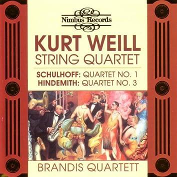 Schulhoff / Weill / Hindemith: String Quartetts