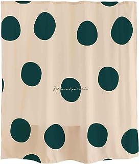 Orange Design シャワーカーテン シンプル 可愛 元素 幾何 緑 丸 カーテン 簡単 シャワールーム ブルー 白い 青い 紡績物 ポリエステル 防水 防カビ 女 男 子供用 180 * 180cm