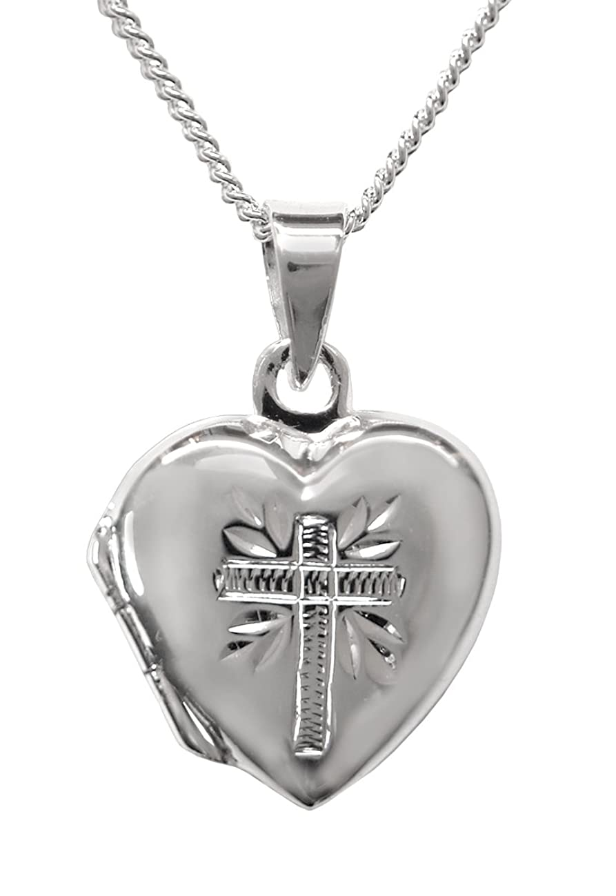 Dicksons My First Communion Sterling Silver Prayer Locket Necklace