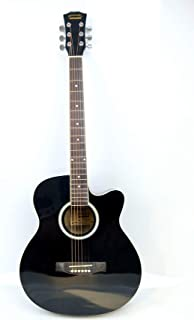 40inch MIKE MUSIC Acoustic Guitar with Bag and Strap (Black)
