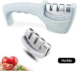 MYVIT Knife Sharpener Chefs Knife Sharpener Knife Sharpening Kitchen Tool 3-stage [Another Removable Grinder Head]