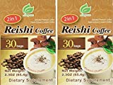 Reishi Coffee 2 in 1 - Selected Premium Coffee - Reishi Extract and Instant Coffee - 30 Bags Per Box (Pack of 2)