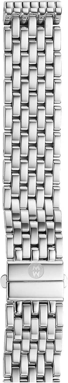 Michele - 16mm Deco 16 7-Link Bracelet Silver/Steel