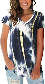 Best v neck tie dye tee shirts Reviews