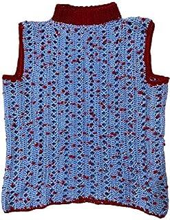 Deecrochet Poppins Woolen Pullover Acrylic Sweater for Woman - Sky Blue, Large