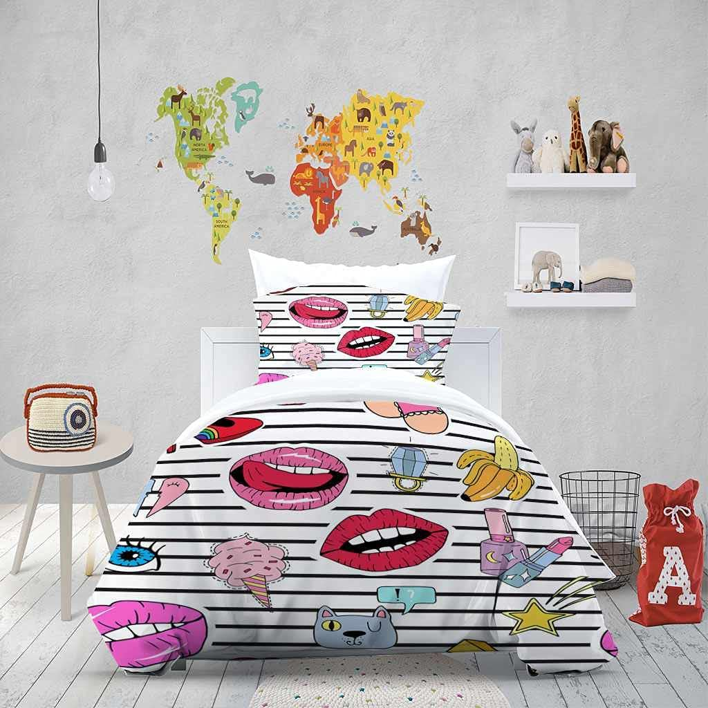 LZRNWP Queen Bedding Sales results No. 1 Set Microfiber Printed latest Cover 3D Duvet