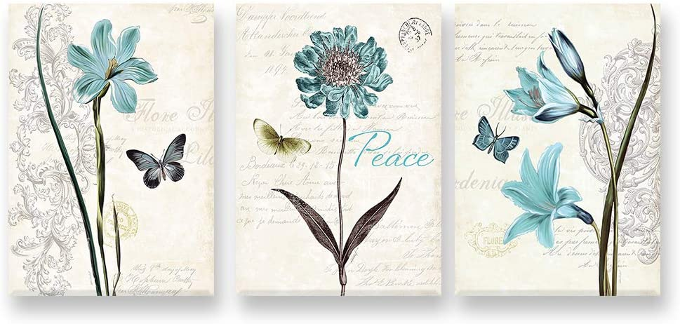 Loboo Idea Superior Dealing full price reduction Living Room Canvas Flowers Butterfly Decor Wall Art
