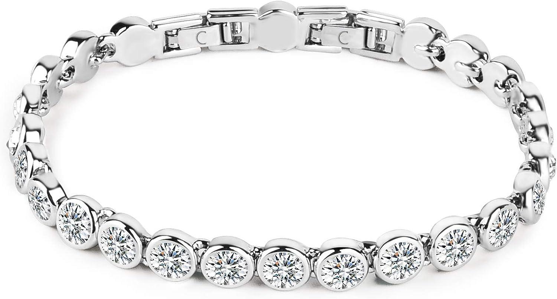 Tennis Bracelet for Women Import Dainty Rhinestone 18 Zirconia Cubic free shipping CZ