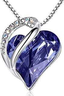 Leafael [Presented by Miss New York Infinity Love Swarovski Crystal Heart Pendant Necklace, Silver-Tone, 17