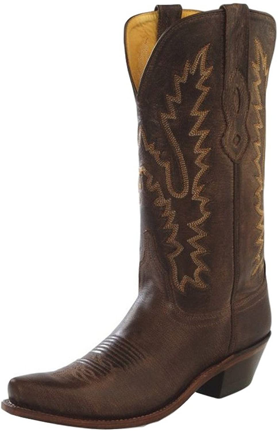 Old West Cowboy Boot Women Goodyear Snip Toe 7.5 B Brown Canyon LF1534
