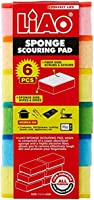 LIAO Sponge with Scouring Pad, 6 Count, OCN-069