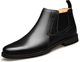 U-lite Mens Ankle Chelsea Chukka Boots, Slip On Casual Booties for Men