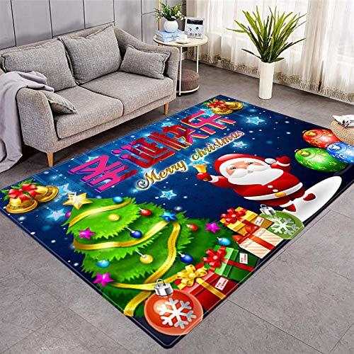 DRTWE Alfombra de terciopelo suave para sala de estar, dormitorio, antideslizante, cálida, para yoga, meditación, para niños, 91 x 152 cm
