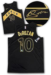 Signed DeMar DeRozan Jersey - Black Gold City Nike Swingman - Autographed NBA Jerseys