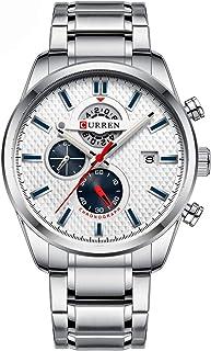 Andoer Men Businiess Watch Exquisite Classic Alloy Case Stainless Steel Band Wrist Watch Fashion 3 ATM Waterproof Quartz W...