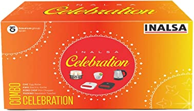 INALSA Kitchen Essential Celebration Special Combo (Chic-Egg Boiler | Kwik-Electric Kettle | Robo Chop-Mini Chopper | Phoe...