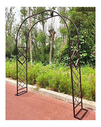 HLMBQ Metal Arco de Jardín Enrejado cenador Planta Rosa Escalada Arco decoración Fiesta de Boda,Gran tamaño Soporte para trepadoras,Resistente Negro 1.4x2.3m,2.2x2.3m,3.4x2.3m,4x2.3m