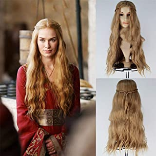 Longlove Jon Snow Hair Short Curly Fluffy Black Costume Cosplay Wig inspired by Game of Thrones (Cersei Lannister gold)
