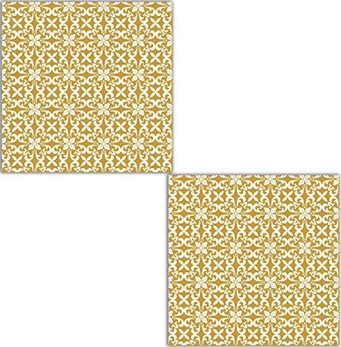 Moroccan Pattern 41 Two 6 X 6 Inches Ceramico Losas Azulejos de cerámica decorativos