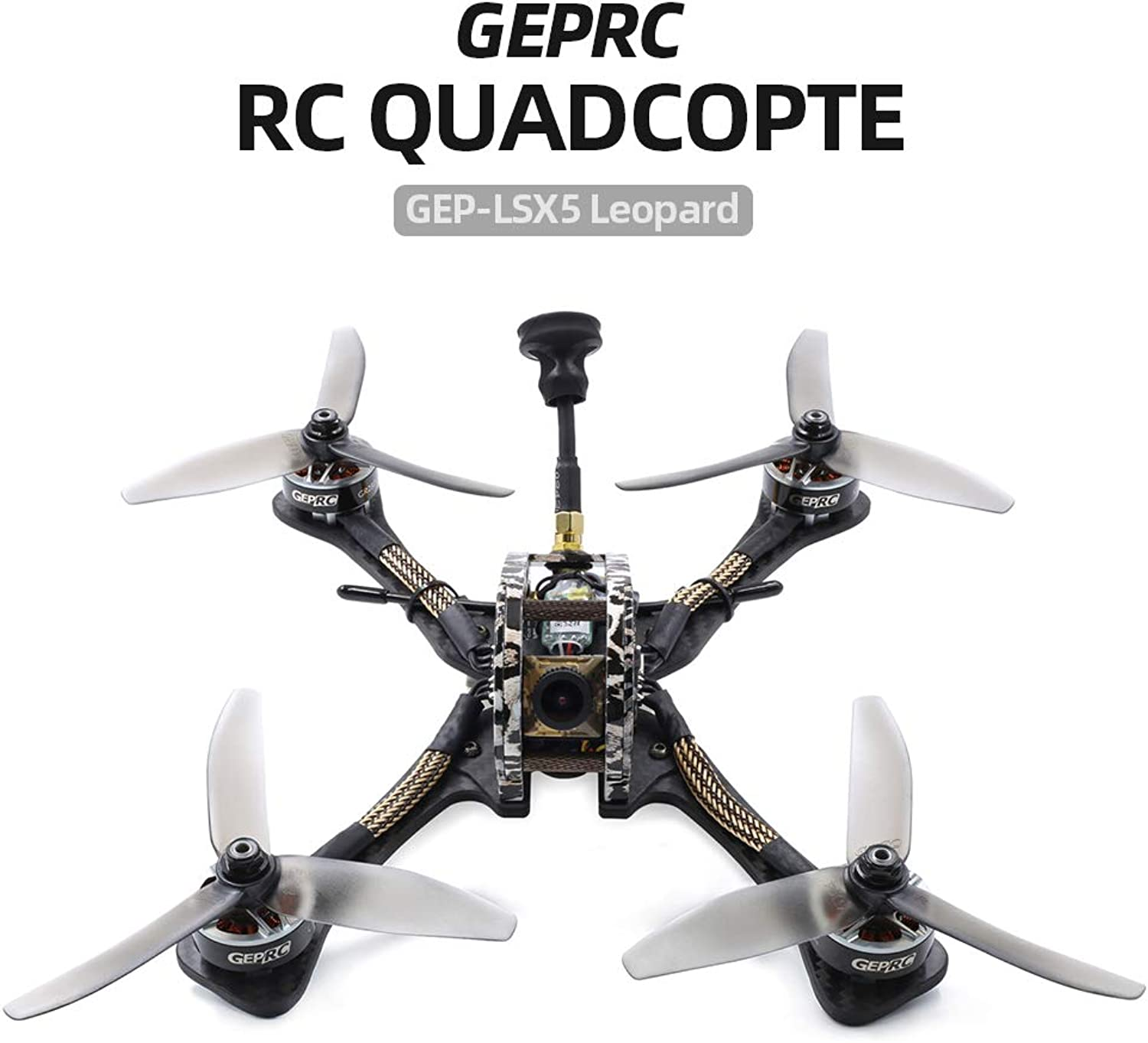 marca Mobiliarbus RC FPV Racing Drone Drone Drone GEPRC GEP-LSX5 Leopard 230 mm 2306 2450 kv Motores Brushless 600TVL Cámara con Receptor Frsky XM BNF Racing  hermoso