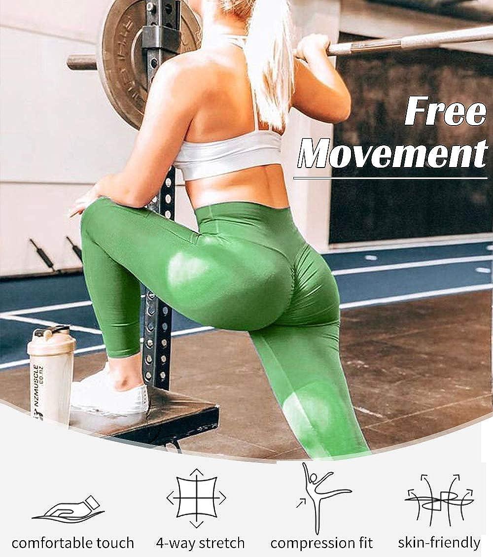 KIWI RATA Leggins Sportivi Donna Leggings Vita Alta Yoga Pantaloni Opaco per Palestra Fitness