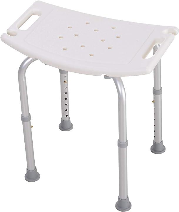 Sgabello sedile sedia per doccia bagno antiscivolo altezza regolabile homcom IT72-00120631