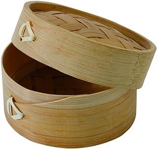 """PacknWood 209BBDIM7 Dim Sum Mini Bamboo Steamer - 3 oz - : 2.8"""" H: 1.9"""" - 200 per case"""