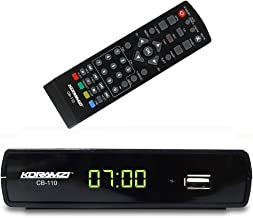 Koramzi CB-110 Digital TV Converter Full HD,USB, Time Shift Function, Dolby, USB Recording with Remote Control (Black)
