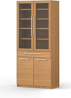 パモウナ 食器棚YC アイダホオーク 幅80×高さ180×奥行40 日本製 YC-S800K