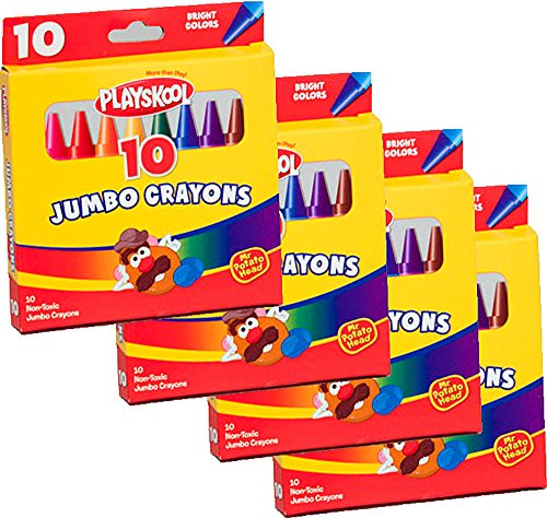 Playskool Jumbo Crayons 10 Count (4 Packs)