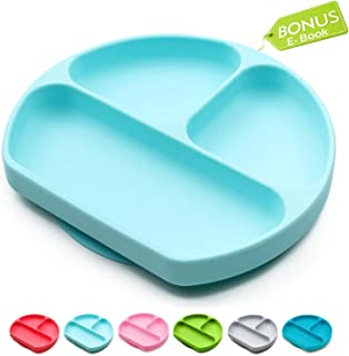 Suction Plates for Toddlers, Children, Babies, Silicone Placemats for Kids Stick to..