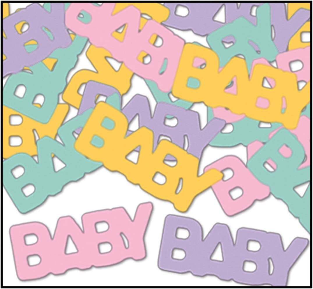 Party Central Club Pack of 12 Multi-Color 'Baby' Confetti Bags 0
