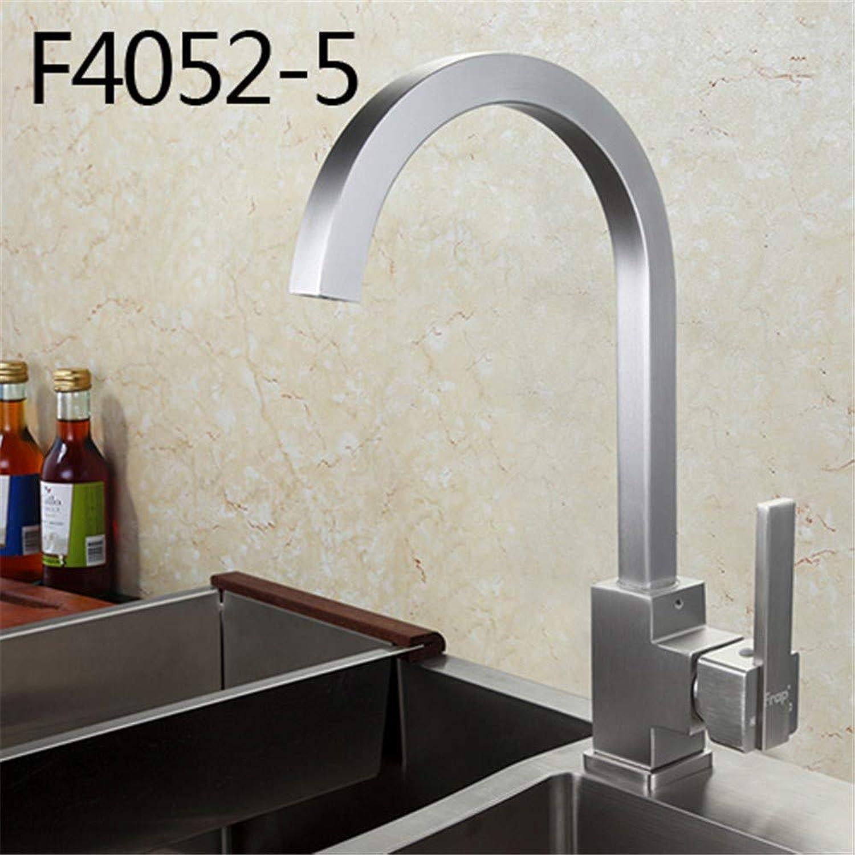 F4052 Wasserhahn für warmes und kaltes Wasser, Aluminium, gebürstet, drehbar, 360 Grad drehbar F4052-5