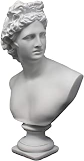 Good Buy Gifts Apollo Bust Sculpture - Classic Greek God Statue - 12.5 Inch Height