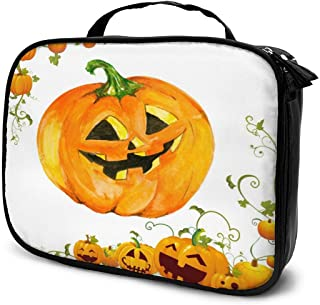 Cosmetic Bag Halloween Pumpkin Cute Travel Makeup Bag Anti-wrinkle Cosmetic Case Multi-functional Storage Bag Large Capacity Makeup Brush Bags Travel Kit Organizer Women's Travel Bags
