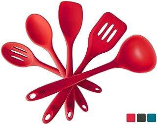 StarPack Premium Silicone Kitchen Utensil Set (5 Piece Set, 10.5