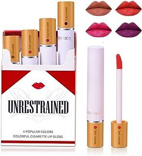 Matte Cigarette Lipstick Pack Set, 4 Colors Red Moisturizer Smooth Lip Stick, Long Lasting Waterproof Liquid Lipstick, Women Make up Velvet Cosmetic Lipsticks