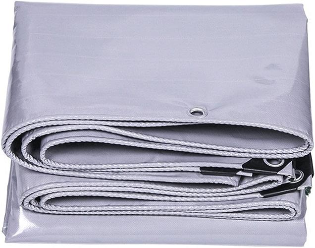 LIYFF- Couverture imperméable de bache imperméable de bache de Voiture de bache de Camping Couverture de bache de Camping de Feuille de bache de gris - humidité, 550g   m2, Options de Multi-Taille